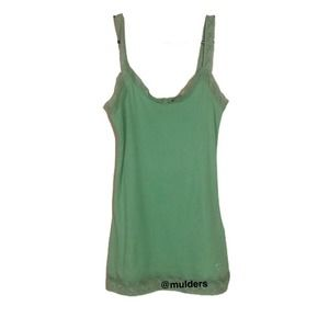 Pacsun Green Ribbed Tank Top Camisole